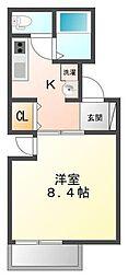 Ruisseau武庫川[2階]の間取り
