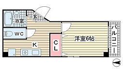 兵庫県神戸市東灘区岡本3丁目の賃貸マンションの間取り