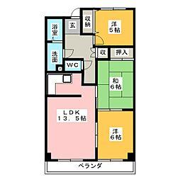 センチュリー21[5階]の間取り
