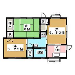 [一戸建] 宮城県名取市増田7丁目 の賃貸【/】の間取り