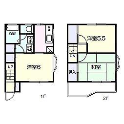 [テラスハウス] 千葉県松戸市六高台7丁目 の賃貸【/】の間取り