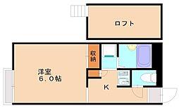 カルムメゾン柳瀬[1階]の間取り