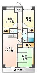 パシフィックマンション[5階]の間取り