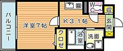 ユニゾンスクエア[1階]の間取り