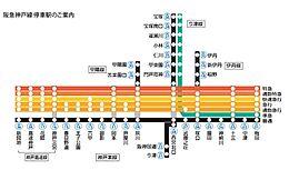 阪急電車路線図