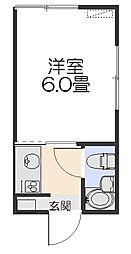 コーポヤマト[105号室]の間取り