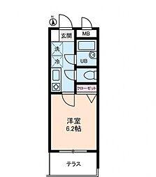 パルムドールハイム[1階]の間取り