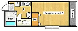 CUBIC119[3階]の間取り