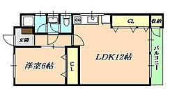 コーポINAOKA南棟[4階]の間取り