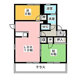 マ・メゾン 壱番館[1階]の間取り