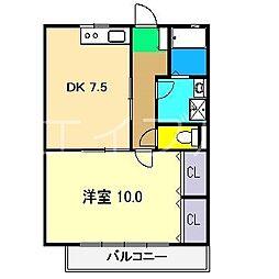 ベルメール[3階]の間取り