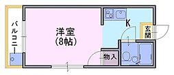 カルフールヤマザキ[4階]の間取り