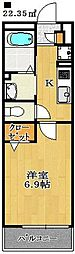 ローズパーク七番館[1階]の間取り