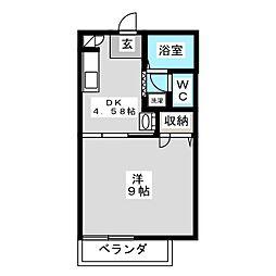 エクセレント21[2階]の間取り