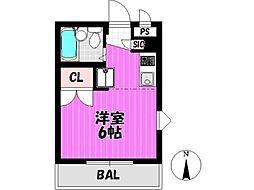 ファミール中野島[2階]の間取り