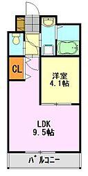 Relache新宿[602号室]の間取り
