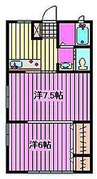 コーポ常盤[1階]の間取り