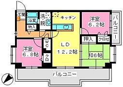 ウィステリア21[4階]の間取り