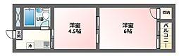 駒川エンビイハイツ[8階]の間取り