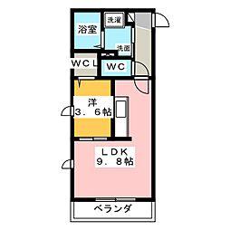 ツインメゾン本郷A[2階]の間取り