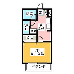 アーバンハイツ阪野[1階]の間取り
