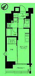 東京都新宿区西早稲田の賃貸マンションの間取り