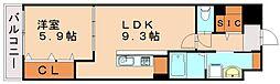 レガリア吉塚[4階]の間取り