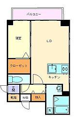ヴィラハイネス舞鶴[8階]の間取り