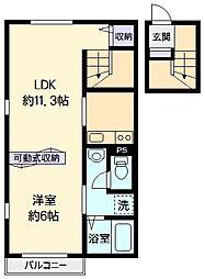 東京都武蔵野市関前4丁目の賃貸マンションの間取り