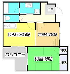 レスポワール池田[1階]の間取り