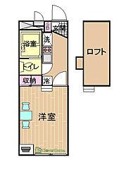 NAKAGOME[107号室]の間取り