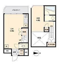 京王井の頭線 西永福駅 徒歩3分の賃貸マンション 4階1LDKの間取り