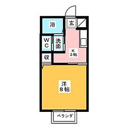 コーポ宝楽[2階]の間取り