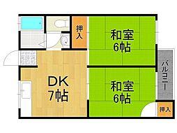 前田ハイツ[3階]の間取り