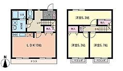 [テラスハウス] 神奈川県横浜市青葉区すすき野1丁目 の賃貸【/】の間取り