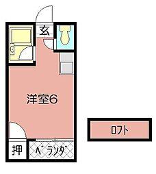 ソフィ21緑ヶ丘[203号室]の間取り