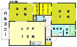 リビングタウン新宮C[2階]の間取り