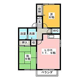 ベルプライム A[2階]の間取り