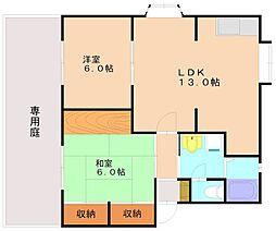 パルハイム[1階]の間取り