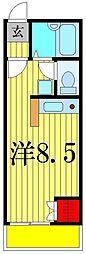 メゾンドパン[1階]の間取り