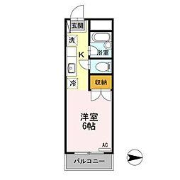 東京都日野市百草の賃貸アパートの間取り