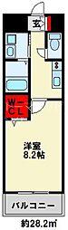 ギャラン竪町Neo 11階1Kの間取り
