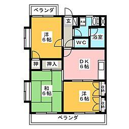 エトワール石田[1階]の間取り