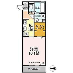 北総鉄道 新柴又駅 徒歩8分の賃貸アパート 3階1Kの間取り
