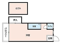 福岡県北九州市八幡西区楠木2丁目の賃貸アパートの間取り