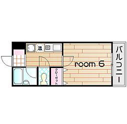 ボヌール加島[8階]の間取り