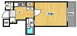 サンビュー[3階]の間取り