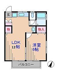 神奈川県横浜市港北区日吉本町6丁目の賃貸アパートの間取り