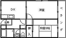 新香枦マンション[303号室]の間取り