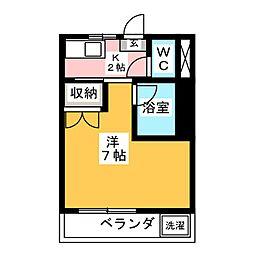 リトルハイム花尻 58号館[3階]の間取り